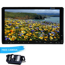 7''GPS Navigation HD Double 2DIN Car Stereo DVD Player Bluetooth iPod MP3+Camera