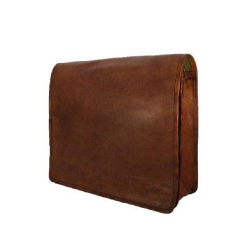 Large Laptop Bag Genuine Vintage Leather Messenger Briefcase Satchel Men/'s Bag