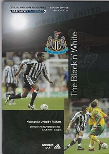 NEWCASTLE UTD  V FULHAM  PREMIER LGE 7112004 - <span itemprop=availableAtOrFrom>anerley, London, United Kingdom</span> - Returns accepted Most purchases from business sellers are protected by the Consumer Contract Regulations 2013 which give you the right to cancel the purchase within 14 days after  - anerley, London, United Kingdom