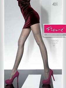 Fiore-gemira-Feinstrumpfhose-40den-S-L-graphite-Collant-Bas-Bas-36-46