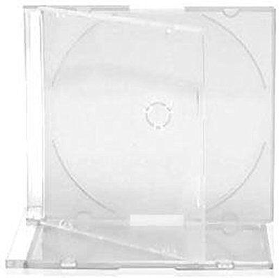 Singolo CD jewel case slim 5,2 mm SATINATO Chiaro Bianco NUOVA COVER di ricambio
