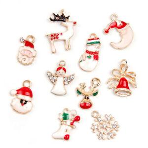 image is loading 19pcs metal alloy mixed christmas charms set jewellery - Christmas Charms