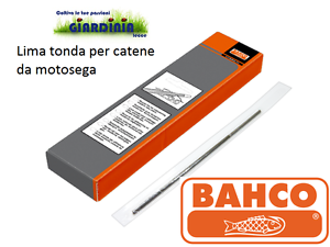 TONDINO LIMA TONDA PER AFFILATURA CATENA MOTOSEGA BAHCO 4.0 x 200 mm Pz 12