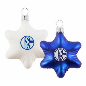 Schalke Bilder Weihnachten.Glas Stern 2erset Blau U Weiß Christbaumschmuck Weihnachten 11940