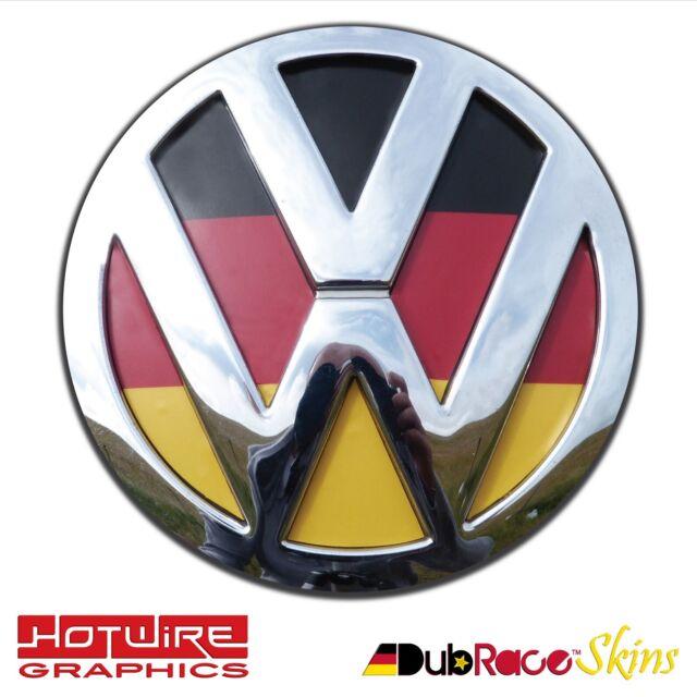 01e5bc5f9 Volkswagen VW T5 & T6 Transporter Van German Flag Colours - REAR Badge  Inserts.