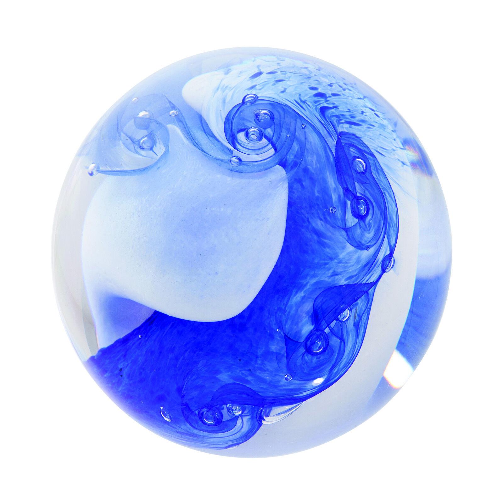 Caithness Cascade Paperweight - Blau