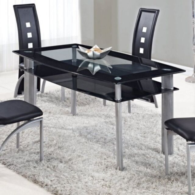 3c706a4bed90b Global Furniture Dining Table Black D1058NDTM Table 63 x 36 x 30H NEW