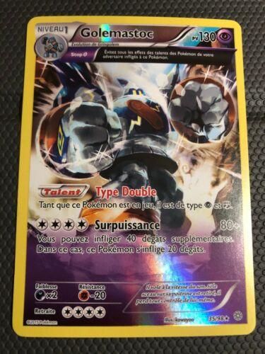 Carte Pokémon 35//98 Golemastoc Rare Reverse Origines Antiques NEUF FR