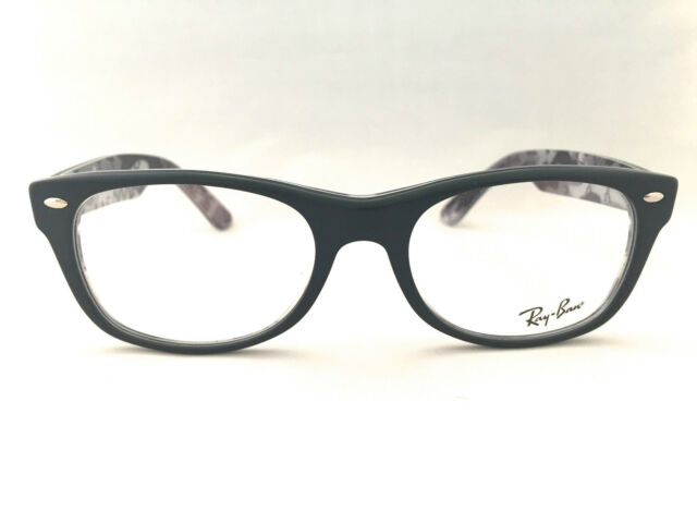 780c47fef2 New Authentic Ray Ban RB 5184 5405 Matte Black Print 52mm Eyeglasses Frames  RX
