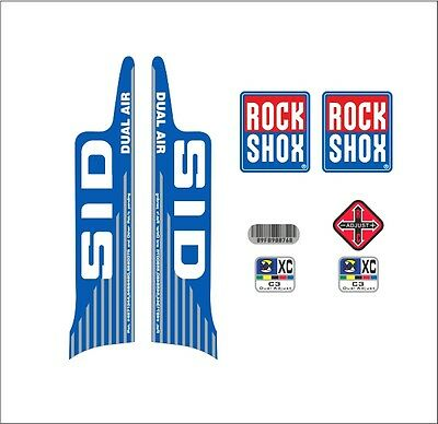 SUSPENSION DECAL SET RED VERSION ROCK SHOX SID XC DUAL AIR  FORK