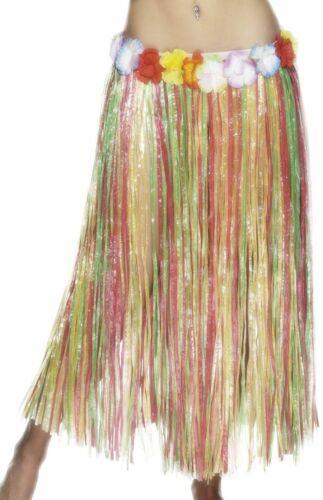 Flowers Adults Beach Party Long 79cm Fancy Dress Accessory Hawaiian Hula Skirt