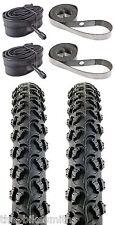 """2PACK KENDA Alpha Bite K831 26x1.95"""" MTB Bike Tires & Tubes & RimStrips kit 26"""""""