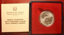 NL* ITALIA 500 LIRE ARGENTO 1990 SEMESTRE PRESIDENZA ITALIANA CEE FDC SET ZECCA