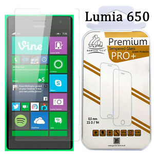Ecran-Protecteur-Verre-Trempe-Film-LCD-Lumia-650-Veritable-Gorilla-Tech-Brand