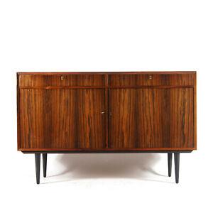 Retro Vintage Danish Large Rosewood Sideboard Cabinet 50s 60s 70s Mid Century