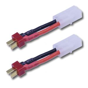 2x-Stueck-Adapter-Ladekabel-Dean-T-Plug-T-Stecker-auf-Tamiya-Buchse-RC-Lipo-Akku