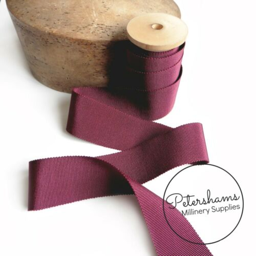 Full Roll 40mm No.10 French Millinery Petersham Hat Ribbon for Millinery 1m