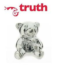 Genuine TRUTH PK 925 sterling silver TEDDY BEAR with bow charm bracelet bead