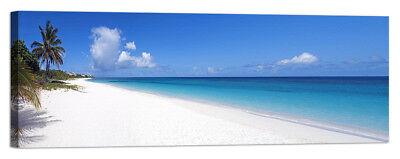 Stampa su Tela Vernice Effetto Pennellate isola tropicale palma