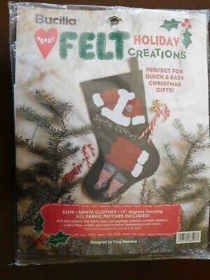Bucilla Santa/'s clothes Heart Felt Holiday Creative 14 Stocking