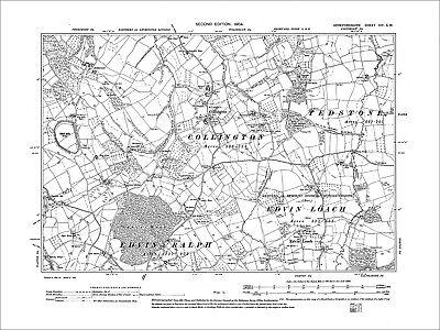 OLD ONE INCH MAP CERRIGYDRUDION CORWEN 1904 LLANDRILLO ALWEN VALLEY