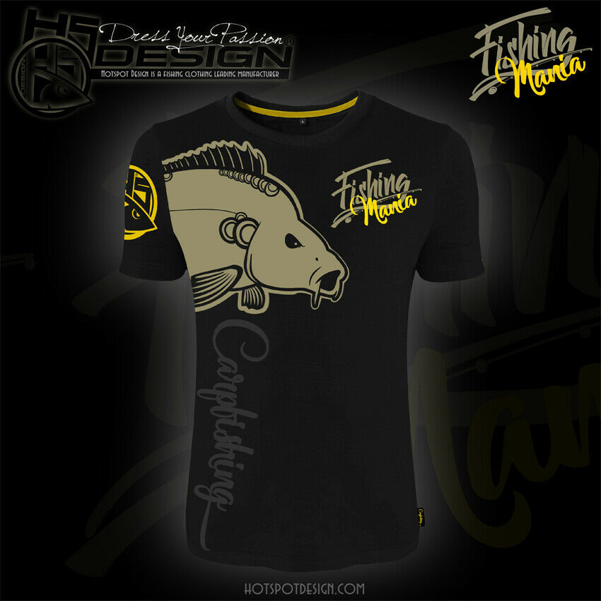 Hotspot Design T-shirt Carpfishing Mania, Angel-T-Shirt, Angler-T-Shirt    Mittlere Kosten