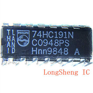 10-PCS-SN74HC191N-DIP-16-4-BIT-SYNCHRONOUS-UP-DOWN-BINARY-COUNTERS-new