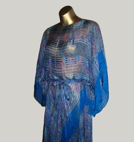 EXQUISITE KIMONO SLEEVE DRESS BY ICINOO - VTG 70s