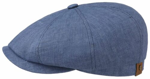 Stetson Hatteras Linen Newsboy Cap