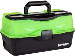 """Outdoors 3 Tray , Fishing Tackle Boxes - Frost Green/Black,16 x 9 x 8.25"""" , USA"""