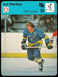 41939e55d 1977 79 SPORTSCASTER ICE HOCKEY 1974 GARRY UNGER ST LOUIS BLUES RED ...