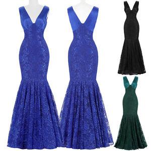 Lentejuelas-Largo-Negro-Azul-Dama-De-Honor-Formal-Vestido-fiesta-Baile-Noche