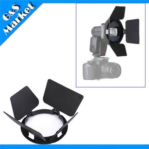 Flash Adapter Kit Accessory K9/K-9 Barndoor for Speedlite/Speedlight/Flash