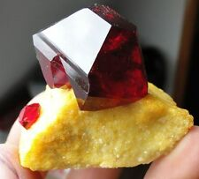 "Amazing Nice - TOP Luster Deep RED ""RUBY""  PRUSKITE on MATRIX from POLAND"
