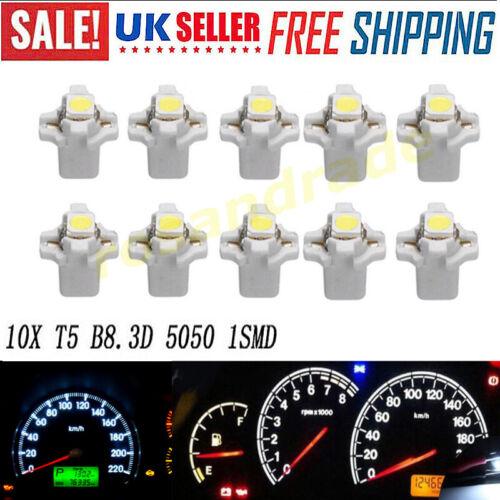 T5 B8.3D 5050 1SMD AUTO Bianco LED cruscotto DASH GAUGE Strumento LAMPADINE UK