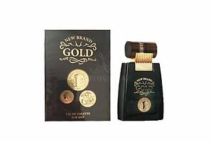 750d46761 New Brand Gold By New Brand for Men s Cologne 3.3oz 100ml Eau De ...