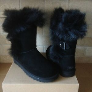 3845be5a715 Details about UGG DEENA BLACK SUEDE TOSCANA CUFF CLASSIC SHORT BOOTS SIZE  US 7 WOMENS