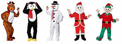 ADULT CHRISTMAS SNOWMAN SANTA REINDEER PENGUIN ELF FANCY DRESS MASCOT COSTUME