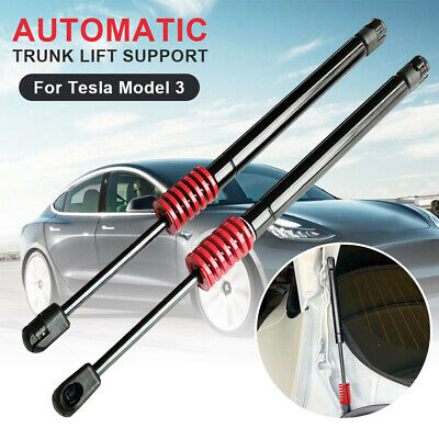 Dinapy 2pcs Automatic Trunk Lift Pneumatic Complete Struts Kit Support for Tesla Model 3 Automatic Lifting,Direct Replacement,stainless Steel