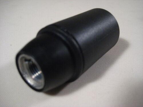 10 x Fassung E14 Iso VDE M10 x 1 -Glattmantel schwarz-