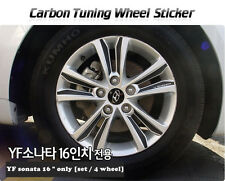 "Carbon Tuning Wheel Mask Sticker For Hyundai YF Sonata ; i45  16"" [2010~2012]"