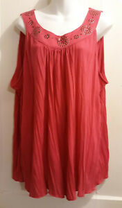 ec9585ab73d Long Pink Pleated Sleeveless Top by French Laundry - Plus Size 18 20 ...
