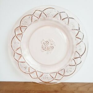 Federal Rosemary pink Depression glass dinner plate 9.5 inches
