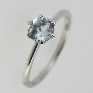 Sterling-Silver-Genuine-Natural-Aquamarine-Ring-Vintage-Design