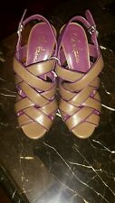NEW Ladies Cole Haan sandals shoes heels pumps brown and purple  Sz 6