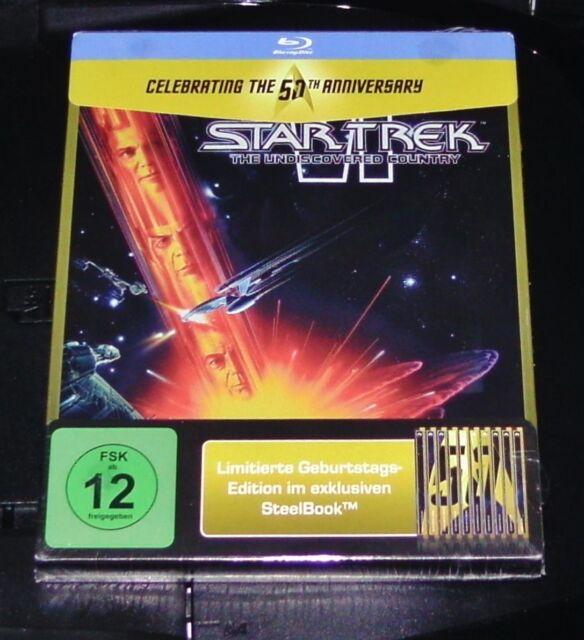 STAR TREK 6 DAS UNENTDECKTE LAND LIMITIERTE GEPRÄGTE STEELBOOK BLU RAY NEU OVP