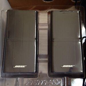 Bose-Lot-of-2-Jewel-Mint-Double-Cube-Speakers-Premium-In-Black-Flawless