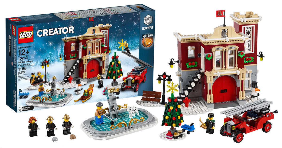 LEGO 10263 WINTER VILLAGE FIRE STATION CHRISTMAS SET NEW BUT SMALL DENT ON BOX