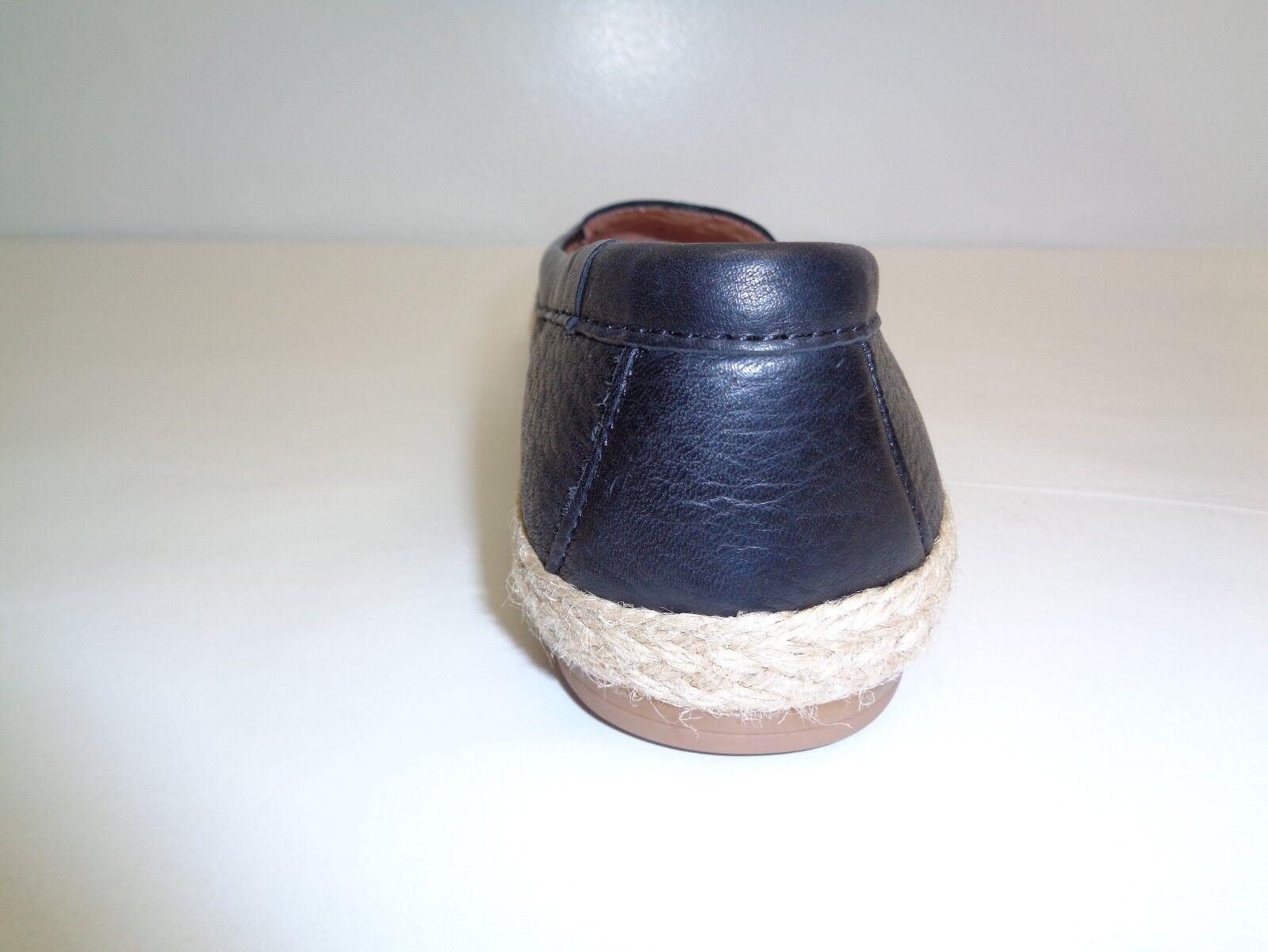 Sofft tamaño 6 M Mapúrpura Mocasines Negro Cuero Alpargatas Mocasines Mapúrpura Nuevos Mujer Zapatos sin Taco 81c087