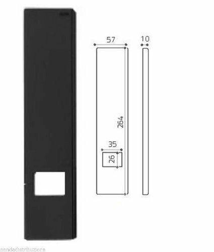 COPRIAVVOLGIBILE PLACCA UNIVERSALE OLIVARI TEVERE IN NYLON NERO made in italy
